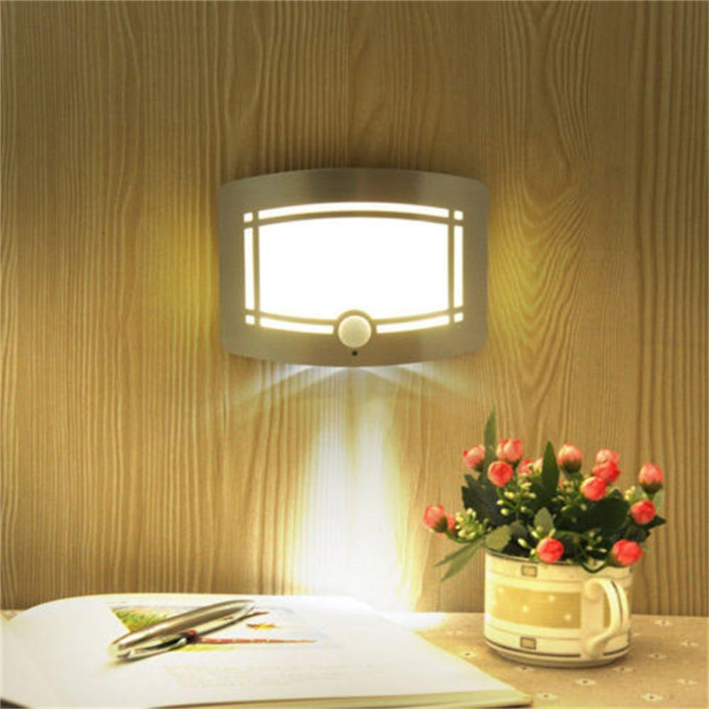 Kohree Stick Anywhere Motion Activated Battery Operated Led Wall No Wiring Sconces This Is A Powered Wireless Sensor Night Light Thatrequires Simply Insert Batteries And Attach To Any Surface