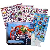 Marvel Avengers Tattoos and Stickers Party Supplies Kit (153 Temporary Tattoos, 56 Stickers, 1 Spray Bottle, 1 Sponge)