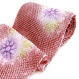 有松鳴海絞 しぼり浴衣反物「朱赤地に総絞りで紫陽花」 一級和裁技能士の国内手縫いお仕立て付 絞りゆかた アジサイ あじさい レッド