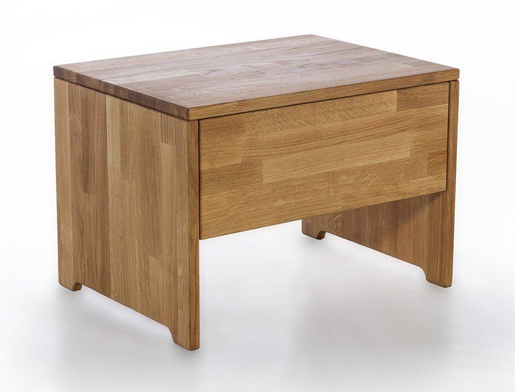 Nachttisch Curtis 2 Wildeiche geölt Massivholz 54x38x40 cm Nachtkommode Nako Nachtschrank Nachtschränkchen Schlafzimmer Jugendzimmer