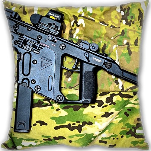 Cheap sofa decorate Christmas gift pillow cushion for leaning on,Kriss Vector Super V Submachine Gun Pillow Custom,3030cm(1212inch) Mini Children Size 190g(0.42lb) pillow (Pillow inner is included). (Kriss Super V compare prices)