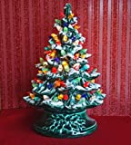 Christmas Decoration - Lighted Ceramic Christmas Tree - Lighted Christmas Tree Made Exclusively for the Kensington Row Collection