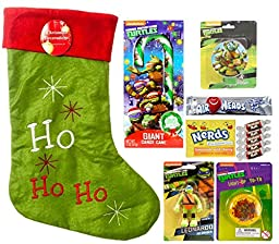Christmas TMNT Teenage Mutant Ninja Turtles Deluxe Gift Set with Nerds and Airhead Candy (12 Pieces)