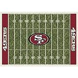 Milliken 4000019843 San Francisco 49ers NFL Team Home Field Area Rug, 5'4″ x 7'8″, Multicolored