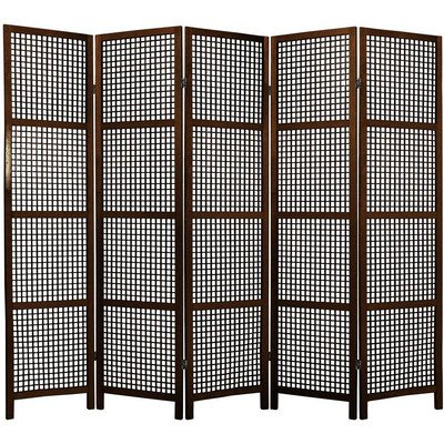 Oriental Furniture Asian Decor 6 Feet Miyagi Japanese Screen Room Divider With Lattice Design