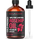 Aria Starr Rosehip Seed Oil Organic Cold Pressed For Face, Skin & Scars - 100% Pure Natural Moisturizer - 4 OZ