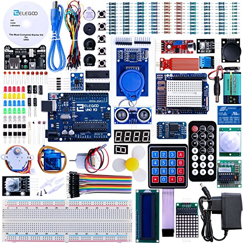 Arduino Kit, Elegoo UNO R3 Project Kit The Most Complete Starter Kit with Tutorial for Arduino Learner(63 Items)