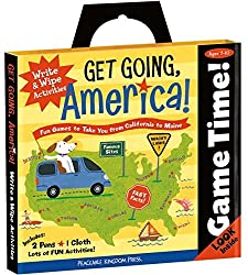 Peaceable Kingdom Award Winning Game Time Get Going, America Write And Wipe Activities