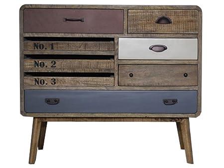 Vintage Industrial Aparador Armario Retro de madera en el pecho de cajones Loft estilo
