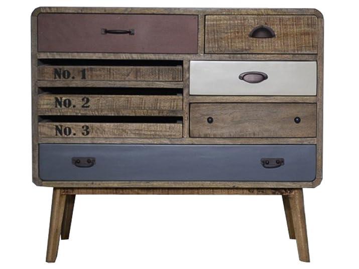 Vintage credenza cabinet cassettiera in legno stile retrò industriale Loft Style