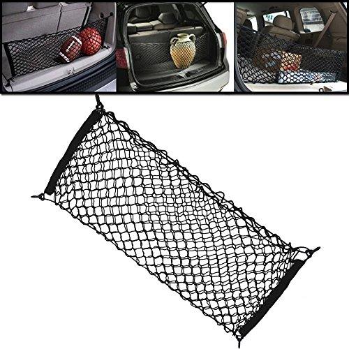 ANZIO Nylon Car Hatchback Rear Luggage Cargo Trunk Storage Organizer Net Mesh + Mounting Hardward Accessories (Cargo Net Durango compare prices)