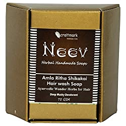 Neev Amla Ritha Shikakai Hair wash Soap Ayurvedic Wonder Herbs for Hair - Net Weight - 75 gms