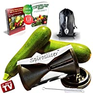 The Original Spiroslicer Premium Vegetable Spiralizer ● Spiral Slicer ● Best Zucchini…