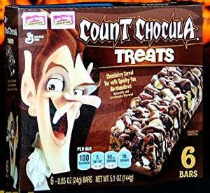 Count Chocula Treats 6 Cereal Bars (4 Pack) 24 Bars Total