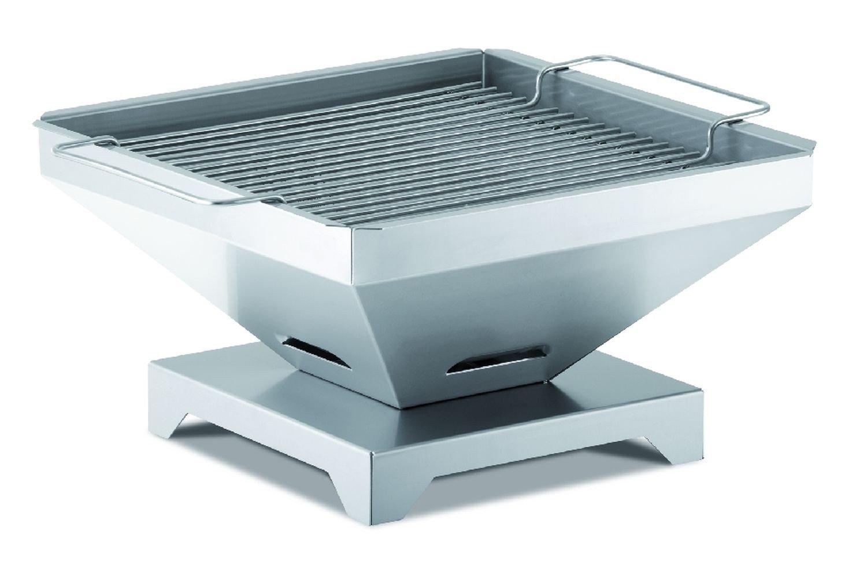 Thüros Tischgrill, Grillfläche: 30 x 30 cm, H: 18 cm, Grillkörper Edelstahl, Rostauflage Edelstahl günstig online kaufen