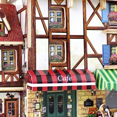3D Buildings and Shops Wooden Puzzles F125 Coffee Shop puzzles