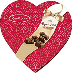 Russell Stover Candies Assorted Milk Chocolates Decorative Heart, 14 oz.