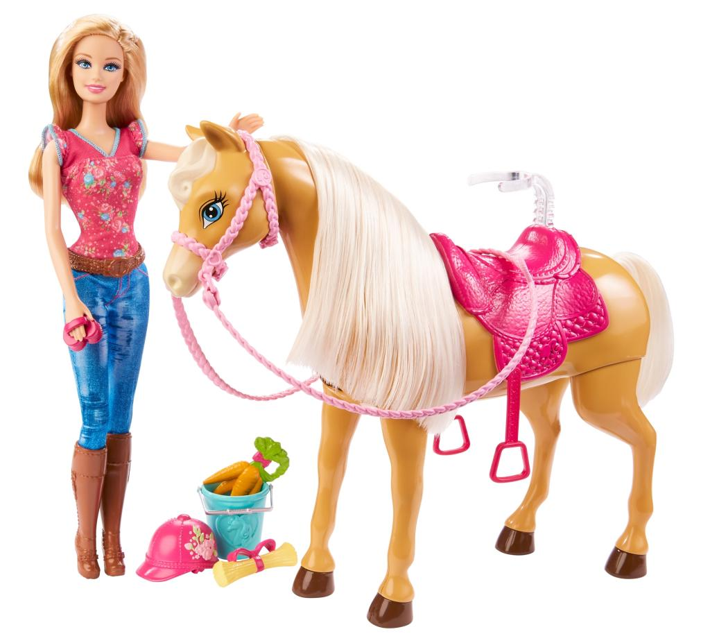 barbie cuddle and feed tawny horse toys games. Black Bedroom Furniture Sets. Home Design Ideas