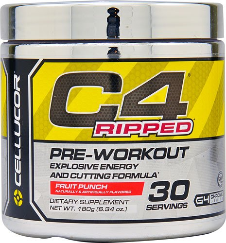 Cellucor C4® Ripped Pre-Workout Fruit Punch -180g (6.34 oz.)- 30 Servings (C4 Fruit Punch 30 Servings compare prices)