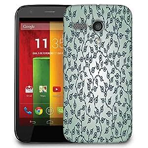 Snoogg Lite Color Pattern Designer Protective Phone Back Case Cover For Motorola G / Moto G