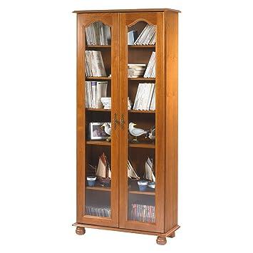 beaux meubles pas pas chers biblioth que 2 portes vitr es ch ne rustique cuisine rustique. Black Bedroom Furniture Sets. Home Design Ideas