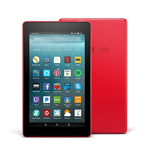 Certified Refurbished Fire 7 Tablet (7 display, 8 GB) - Punch Red with Special Offers (Previous Generation - 7th) (Color: Punch Red)