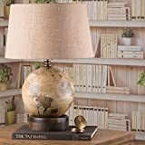 FABULIV Globe Table Lamp GL2603 (walnut wooden base)