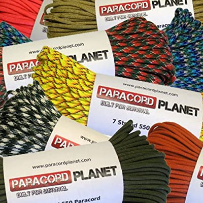 Tactical First Aid Kit: Wholesale 1000 Foot 550 LB Paracord Spools Type III 7 Strand Twisted Inner Cord Parachute Cord with 550 Pound Test Minimum Break Tensile Strength - Authentic 550Cord In Variety of Colors (Black, White, Olive Drab or OD Green, White