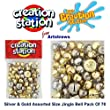 Creation Station 10 x 15 mm New Jingle Bells, Gold and Silver