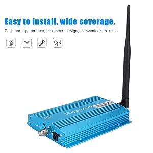 ASHATA Phone Signal Booster, RF Signal Amplifier Mobile Signal Repeater,GSM980 Mobile Phone Signal Booster Repeater Amplifier with Wide Coverage,100-240V US Plug (Color: default)