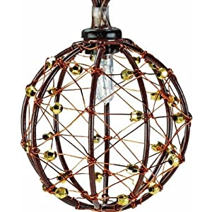 Amazon.com - 10 Count Beaded Copper Wire Ball Light Set, 10CT COPPER BALL LIGHTS - String Lights