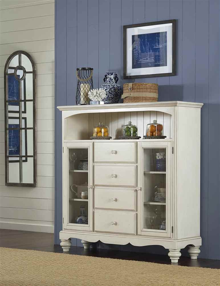 Amazon.com - Hillsdale Pine Island 4 Drawer Bakers Cabinet - Old ...