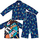 Komar Kids Boys 2-7 Pow Perry Long Sleeve Disney 2 Piece Pajama Set