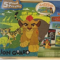 Disney Junior The Lion Guard 5 Wood Puzzles