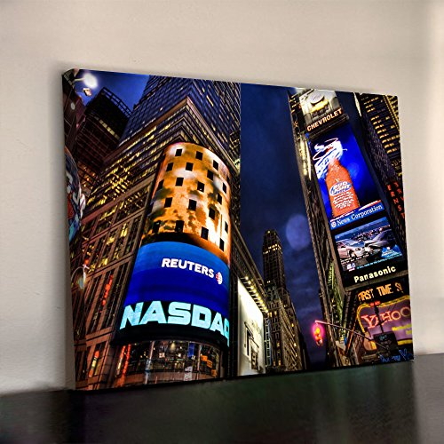 new-york-time-square-nasdaq-art-print-340gsm-framed-xl-30x20-inch-heavyweight-cotton-canvas-office-w