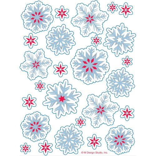 Nordic Snowflakes Value Stickers 4 Sheets Per Pack - 1