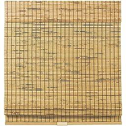 Cordless Woven Wood Bamboo Roman Shade Tortoise Shell (39x64)