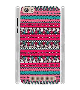 Pink Pattern Tribal Indian Soft Silicon Rubberized Back Case Cover for Gionee Marathon M5 Lite