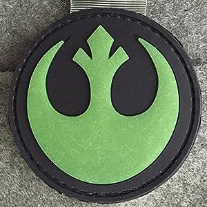 Rebel Alliance Emblem Star Wars Morale Patch (Glow In The Dark) - PVC Morale Patch, Velcro Morale Patch, Star Wars Rebel Alliance Emblem By NEO Tactical Gear