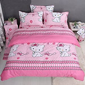 Amazon.com - DIAIDI, Hello Kitty Bedding Set, Hello Kitty Bed ...