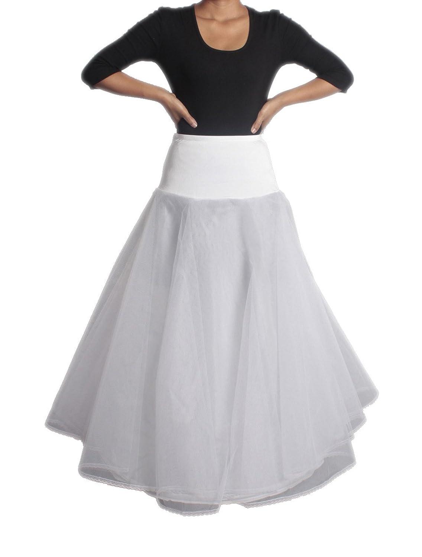 XYX FRAUEN WEDDING PetticoatUnderskirt Slip Krinoline A-LINE WHITE XS-XL günstig