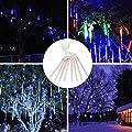 GAXmi Fairy LED Meteor Lights Christmas Holiday Wedding Outdoor Waterproof Hanging Decorative Lighting Set