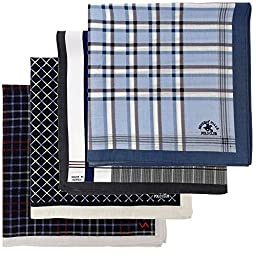 Leevo Handkerchief Men Assorted Woven Cotton 100% Hankies Fashion Fashion 8pack Opp (17.5inch No.5~8 Assorted 8pack Bulk)