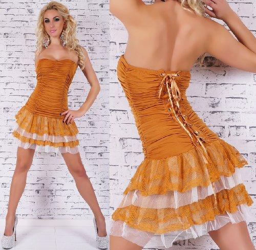 SEXY Minikleid Sommerkleid Corsagenkleid zum Schnüren