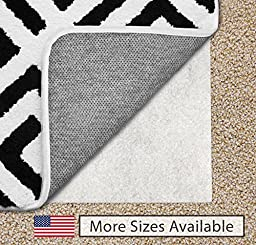 The Original Gorilla Grip (TM) Non-Slip Area Rug Pad for Carpet, Made In USA, Available in 2x3, 3x5, 5x7, 5x8, 4x6, 2x4, 2x8, 6x9, 8x10, 8x11, 9x12, Locks Rugs In Place, No Chemical Odor, (4X6)