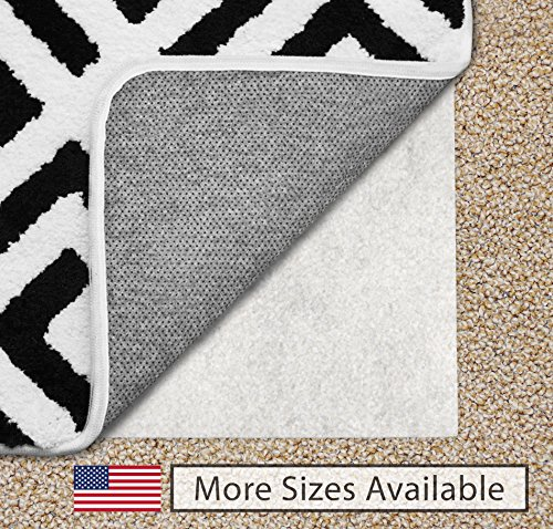 The Original Gorilla Grip (TM) Non-Slip Area Rug Pad for Carpet, Made In USA, Available in 2x3, 3x5, 5x7, 5x8, 4x6, 2x4, 2x8, 6x9, 8x10, 8x11, 9x12, Locks Rugs In Place, No Chemical Odor, (9X12)