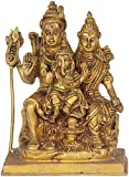 Exotic India Shiva Family - Brass Sculpture