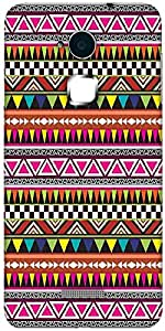 Snoogg Aztec Multicolour Hard Back Case Cover Shield For Coolpad Note 3 (White, 16GB)