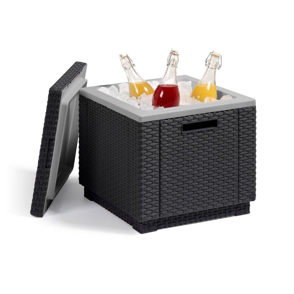 Allibert Kühlbox Beistelltisch inkl. Kühlakku Ice Cube Rattanoptik graphit online bestellen