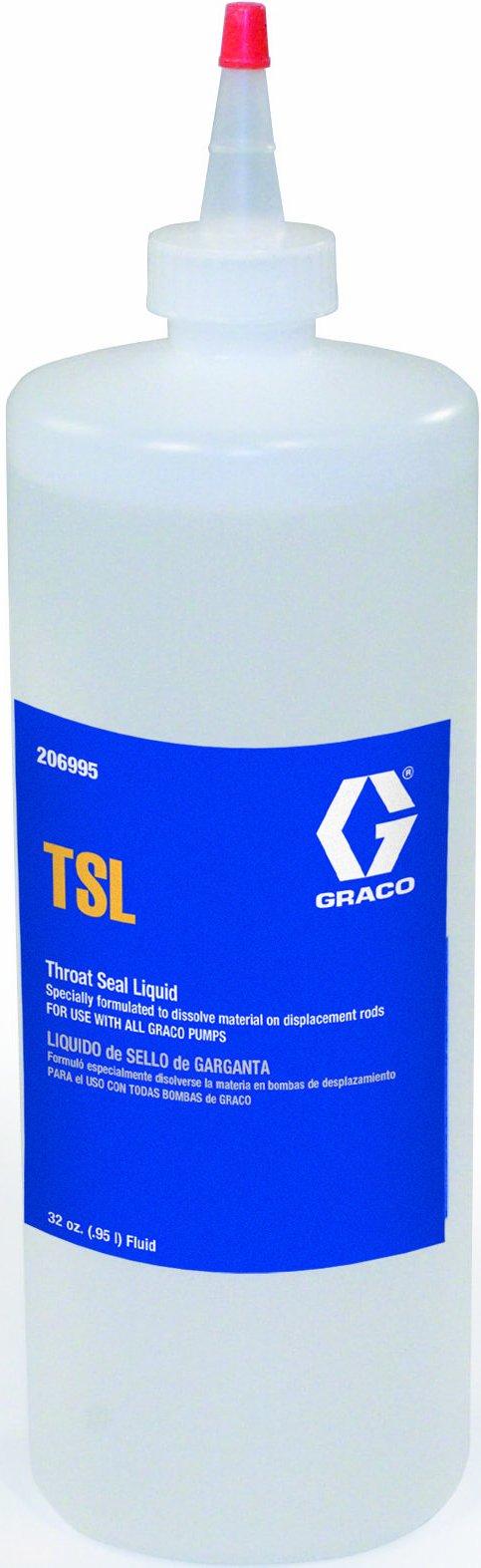 Graco 206995 32-Ounce Throat Seal Liquid for Airless Paint Spray Guns (Color: Amber, Tamaño: 1 qt.)